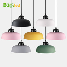 Tranquil Nordic Style LED Pendant Light Lamp Aluminum Hanging Lamp Lampshade For Dining Room Study Bedroom Lighting Luminarias(China)