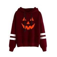 kpop sweatshirts women hoodies ladies autumn winter pumpkin printed pullovers fall clothing sweatshirt halloween