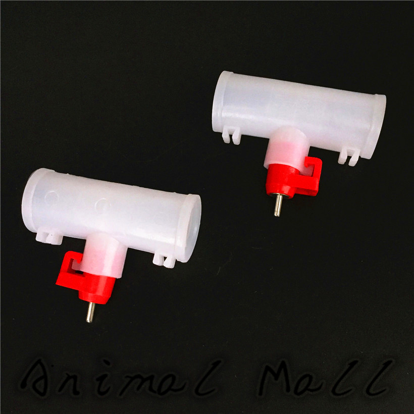 New Chicken Drinking Fountains Drinking Mouth Red Head Automatic Feeding Nipple Drinking Fountains Breeding Equipment Export Faucets 10 one Pack