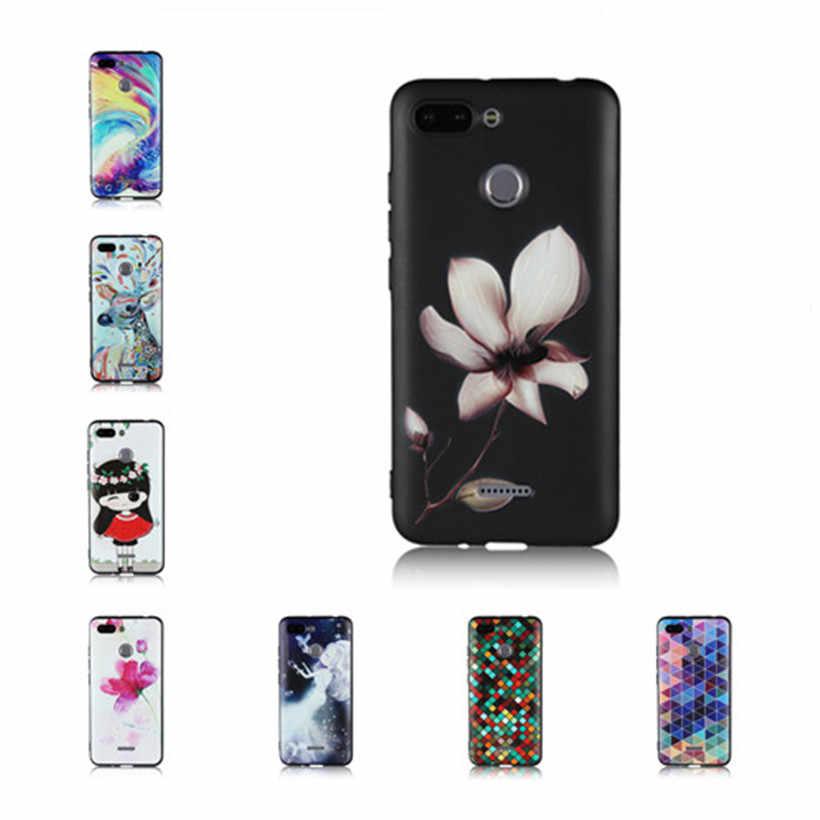 HEMASOLY para Xiaomi Redmi 6 6A 6 Pro mi A2 Lite Max 3 Pocophone F1 funda de silicona 3D relieve, pescado carcasa de teléfono pintada con flores