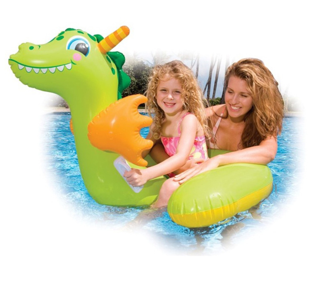 Inflatable Water Toys Baby Kids Cute Dragon Pool Float Inflatable Swimming Pool Tool Accessories