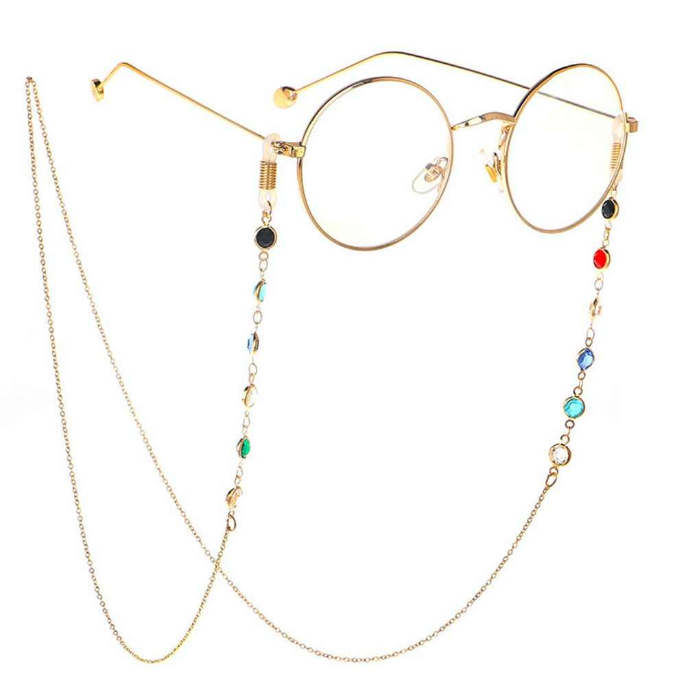 1Pcs ร้อนแว่นตาผู้หญิงผู้ชายแว่นตา 75 ซม.สแตนเลสสตีลแว่นตากันแดดสร้อยคอแว่นตาสายคล้องอ่าน