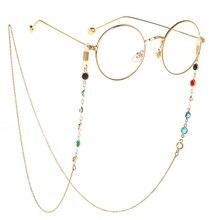 2124457aa طويلة حارس سلسلة النظارة النساء الرجال نظارات اكسسوارات الفولاذ المقاوم  للصدأ 75 سنتيمتر النظارات الشمسية قلادة