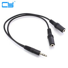 three.5mm Jack Earphone Splitter Adapter 1 Male to 2 Feminine Extension Audio Cable for Samsung huawei For Common Cell Cellphone MP3