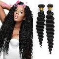 Cheap Peruano Virgem Cabelo 6A Não Transformados Onda Profunda Peruano 4 Pacotes de 8 ''-30'' Comprimento Mix Humano de 100% Weave do cabelo Extensões de 100g