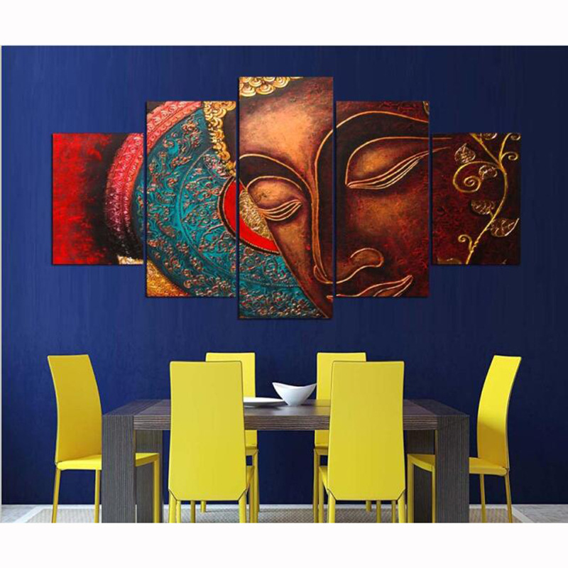 Modern decorative wall painting Buddha statue Zen garden bedroom paintings hotel decoration frameless oil painting