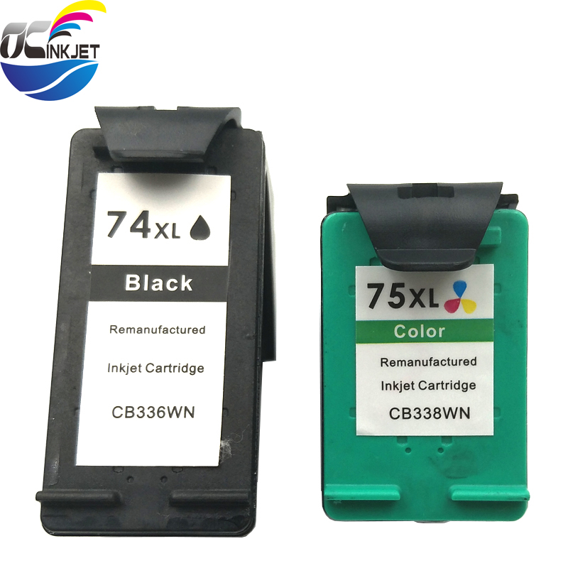 OCINKJET 74XL 75XL For HP 74 75 Ink font b Cartridge b font Compatible For HP