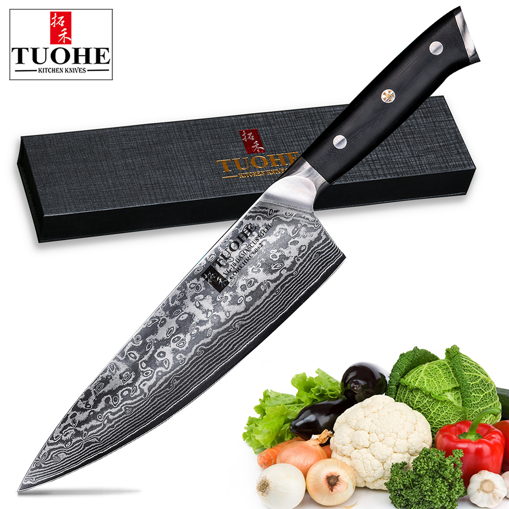 Quality Kitchen Knives: TUOHE Professional Chef Knife 8 Inch Gyutou Japanese