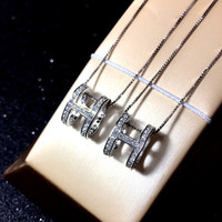 925 Silver Necklace New Fashion Jewelry For Women Hot Sale MEDBOO Same Style As H Pendant