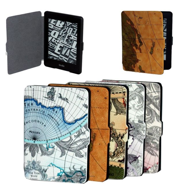 New world map pattens pu leather case cover skin for amazon kindle new world map pattens pu leather case cover skin for amazon kindle paperwhite 12 gumiabroncs Choice Image