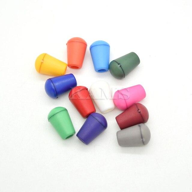 Bouchon de cloche en plastique coloré 12 pièces   Avec couvercle, embout de verrouillage, pince à bascule pour Paracord/vêtements