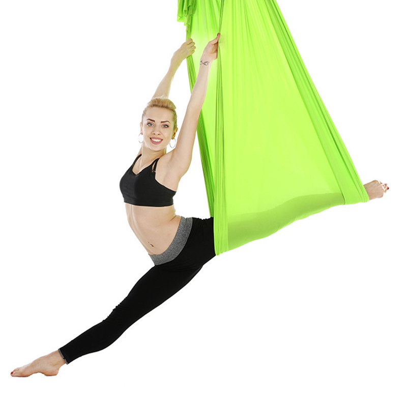 Hamac de Yoga aérien en Nylon extensible de 5*2.8 m de haut Yoga Anti-gravité