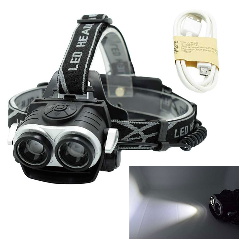 Wasafire XML T6 LED Flashlight Forehead Flashlight Headlight Waterproof Headlamp Head Lantern Fishing Lamp 18650 Torch Light