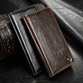 Para sony z5 premium case caseme retro bolsa em couro flip magnético tampa do suporte da carteira para sony xperia z5/z5 compact com cartão Slots