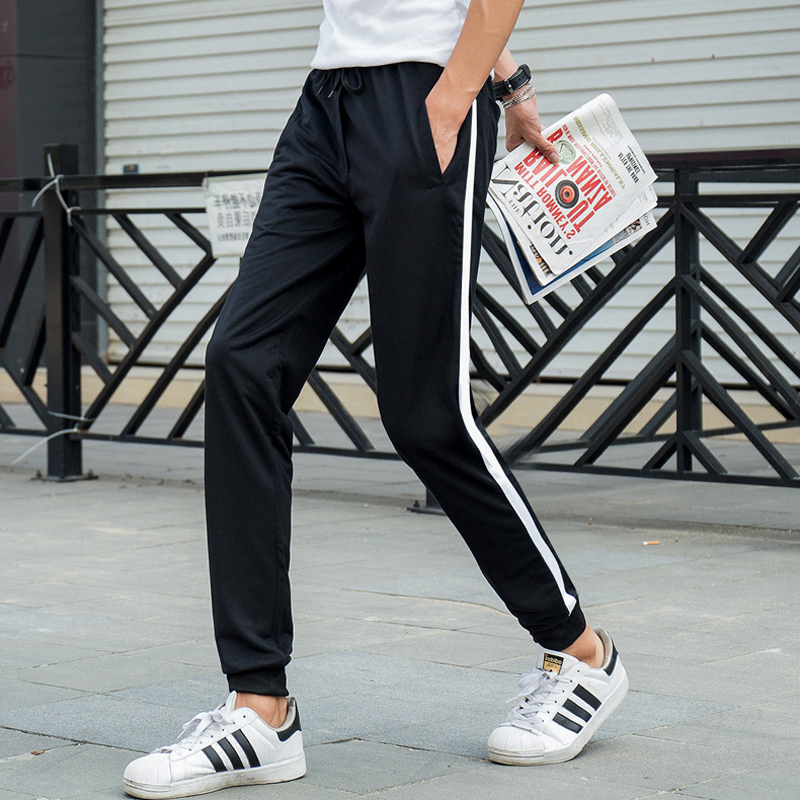 2019 New Fashion Tracksuit Bottoms Mens Casual Pants Harem Pants Sweatpants Mens Joggers Striped Track Pants Clothing