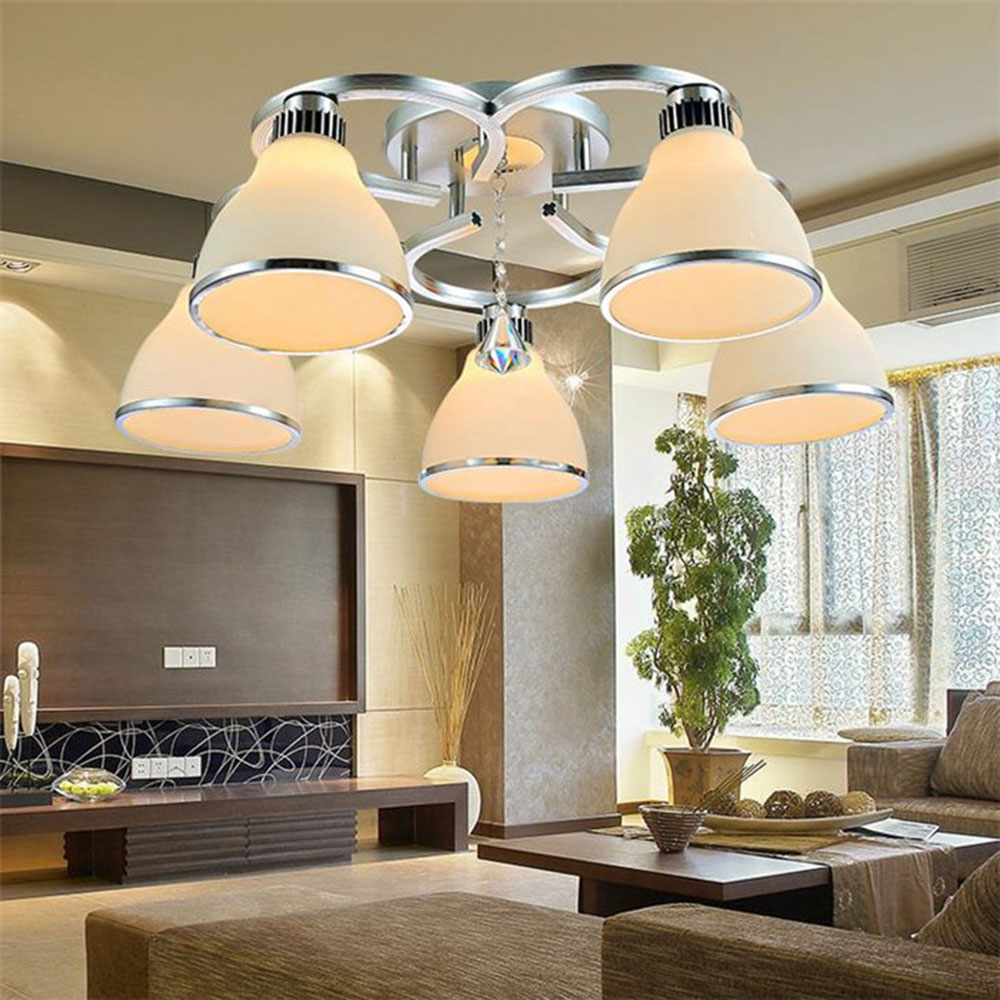 Luxury Crystal Led Ceiling Lights Restaurant Aisle Living Room Balcony Lamp Modern Lighting For Home Decoration Adjustable Light vemma acrylic minimalist modern led ceiling lamps kitchen bathroom bedroom balcony corridor lamp lighting study