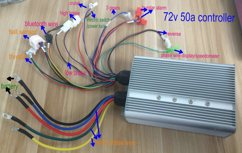 large power square wave controller 48v60v72v50A800W1500W2000W 18mosfet for electric bike scooter pedal scoot motorcycle tricycle хай хэт и контроллер для электронной ударной установки roland fd 9 hi hat controller pedal