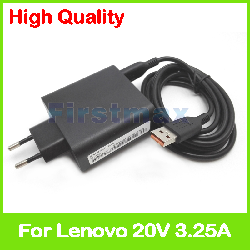20 V 3.25A 5.2 V 2A USB Adaptateur secteur pour Lenovo Yoga 700-11ISK 700-14ISK tablet chargeur 5A10G68677 ADL65WLE 5A10G68678 UE Plug