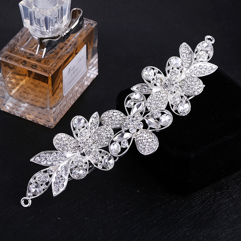 Elegant Fashion Austrian Crystal Rhinestone Flower Bridal Hair Comb Tiara Pin Clip Women Hair Accessories все цены