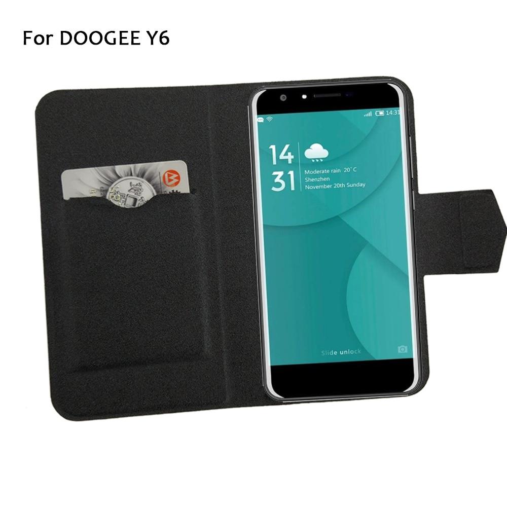 5 Farben Super! Doogee Y6 Telefonhülle Leder Full Flip Telefonabdeckung, hochwertiges luxuriöses Telefonzubehör