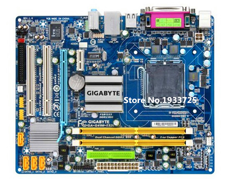 High quality Desktop Motherboard for GA-G41M-ES2L LGA775 DDR2 fully tested&working perfect g41 motherboard fully integrated core 775 cpu ddr3 ram belt 4 vxd ide usb 100% tested perfect quality