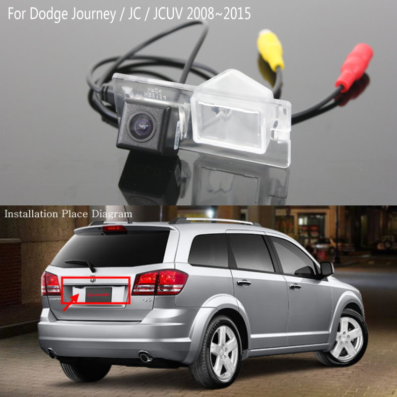 Lyudmila FOR Dodge Journey / JC / JCUV 2008~2015 / Car Parking Rear View Camera / Back Up Reverse Camera / HD CCD Night Vision