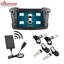 2017 Newest TPMS Tire Pressure Alarm System With 4 Sensors For Android OS DVD Player Car Tire Alarm Security System