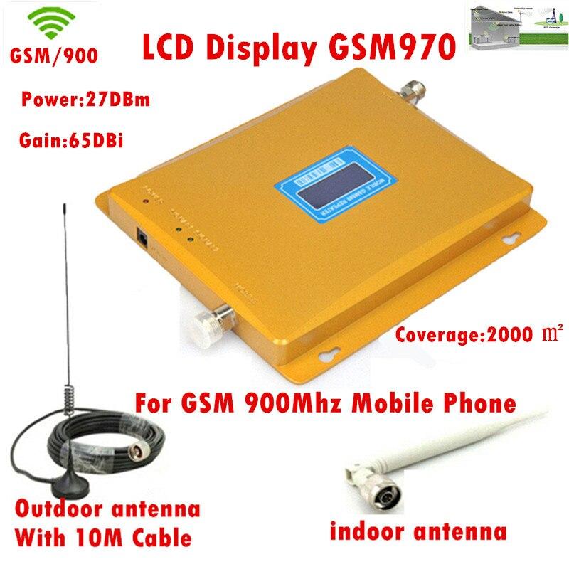 Câble + antenne 10 m, répéteur/amplificateur/récepteur GSM 970, amplificateur/répéteur de Signal Mobile 900 Mhz pour téléphone portable/amplificateur/répéteur