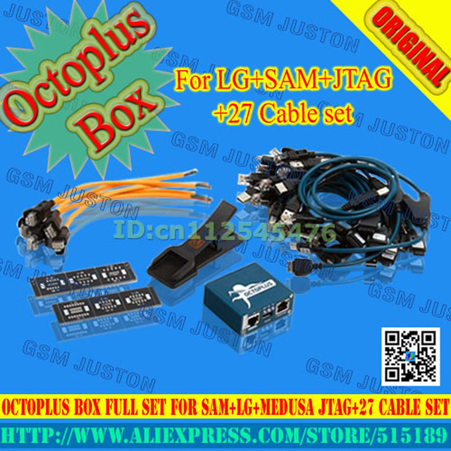 Octoplus Box Full Set for Samsung For LG+Medusa JTAG Activation  (Package With25pcs cable set) added  for samsung N900A&N900T