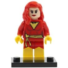 POGO Dark Phoenix X men SuperHeroes Black Canary PG219 Building Blocks Bricks DIY Kids Gifts font