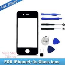 Стекло, объектив, переднее черный, стеклянный панель внешний apple замена сенсорный экран