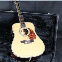 41 ''D45D 12 Строки Электрический Акустическая гитара Фишман EQ Массив ель Топ красного дерева шеи