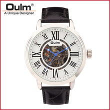 OULM HP3688 Leather Strap PC21S Men Watches Stock Available Automatic Waterproof Mechanical Man Watch
