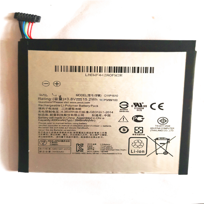For ASUS ZenPad S 8.0 Z580CA C11P1510 Replacement Tablet Battery Li-Polymer 3948/4000mAh batterie with repair tools for giftFor ASUS ZenPad S 8.0 Z580CA C11P1510 Replacement Tablet Battery Li-Polymer 3948/4000mAh batterie with repair tools for gift