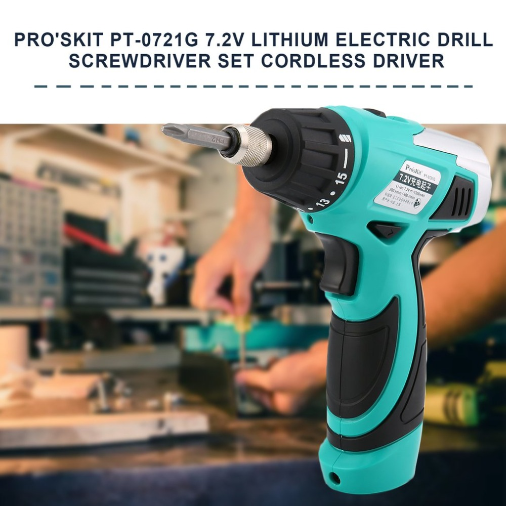 PT-0721G 7.2V Lithium Electric Drill Screwdriver Set Cordless Driver Multifucntion Power Repairing Hand Tool Kit electric power tool hand drill 44mmx14 5mm bevel gear pinion set for dragon 04 10a