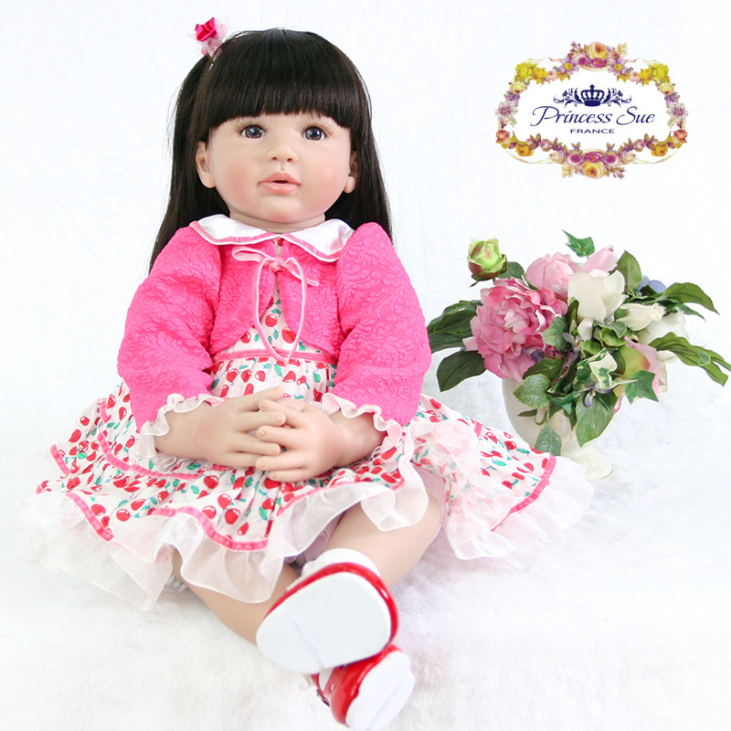 New Designed 55cm Soft Silicone Doll Reborn Baby 22 Toy For baby Newborn Baby Birthday Gift For Child Bedtime Early Education children 22 early factory supply new soft vinyl reborn baby dolls silicone toy gift new education boy baby doll 55cm