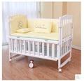 Estrella de madera de múltiples funciones cuna pequeña Amoy mosqui niño corralito bebé agitador de cama Escritorio variables con rodillo para redes de entrega gratuita