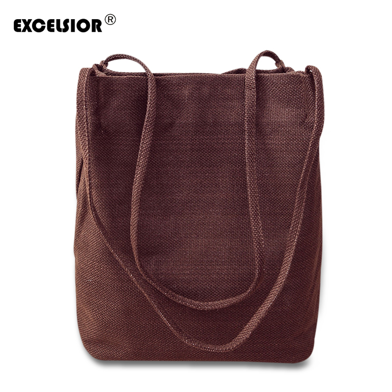 EXCELSIOR Famous Designer Brand Fashion Canvas Women Bags Messenger Ladies Handbag High Quality Linen Bags Bolsa Feminina Bolsos 4sets herringbone women leather messenger composite bags ladies designer handbag famous brands fashion bag for women bolsos cp03