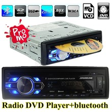 Nueva 12 V Del Coche DVD VCD CD Reproductor de sintonizador de radio bluetooth Estéreo bluetooth FM Radio MP3 Reproductor de Audio USB SD MMC Puerto En El Tablero 1 DIN
