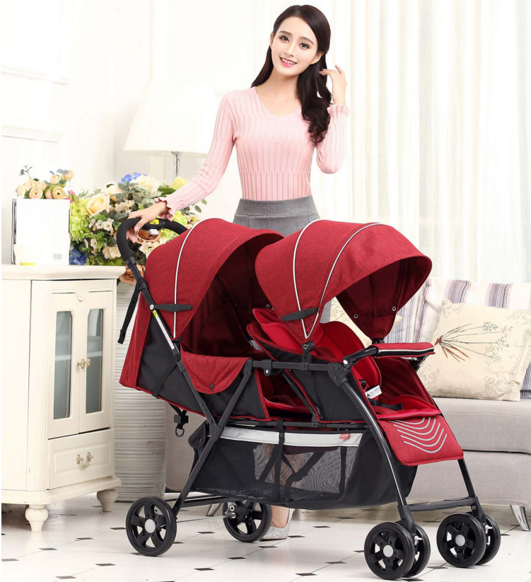 2018 Twins Baby Stroller folding lightweight baby twin stroller 3C baby cars hot new can be lying down