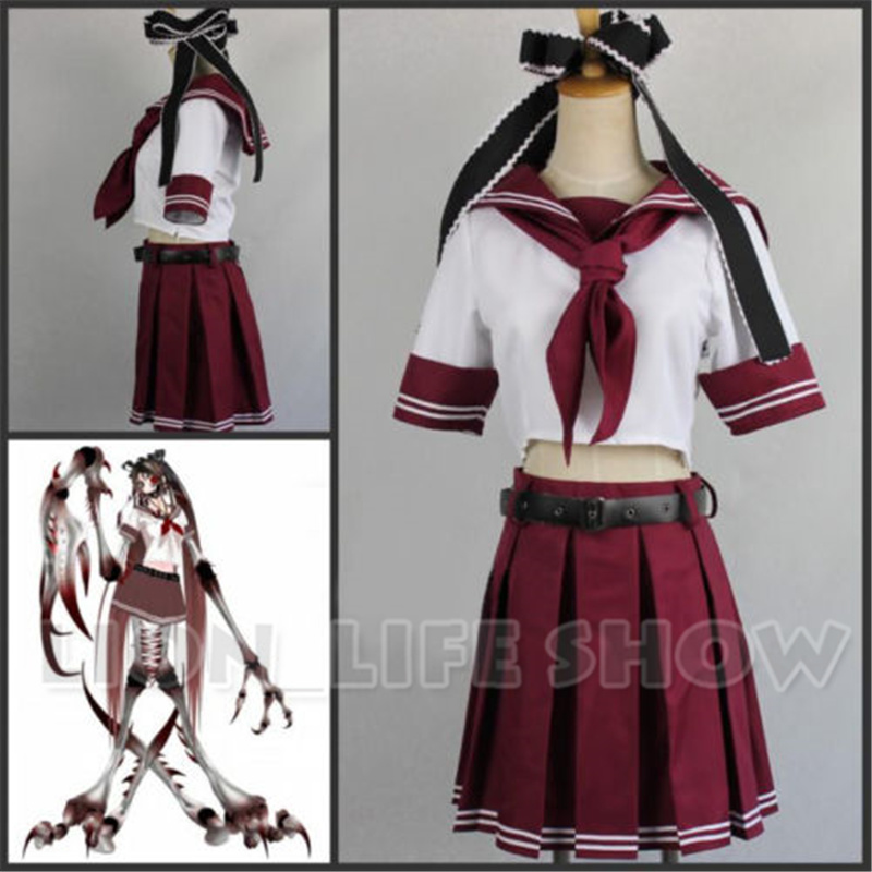VOCALOID Karune SHI-E Calcium Bacterial Contamination Uniform Cosplay Costume