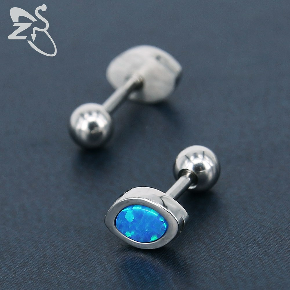 new silver natural hexagon product stone plated earrings fashion copper stud women for