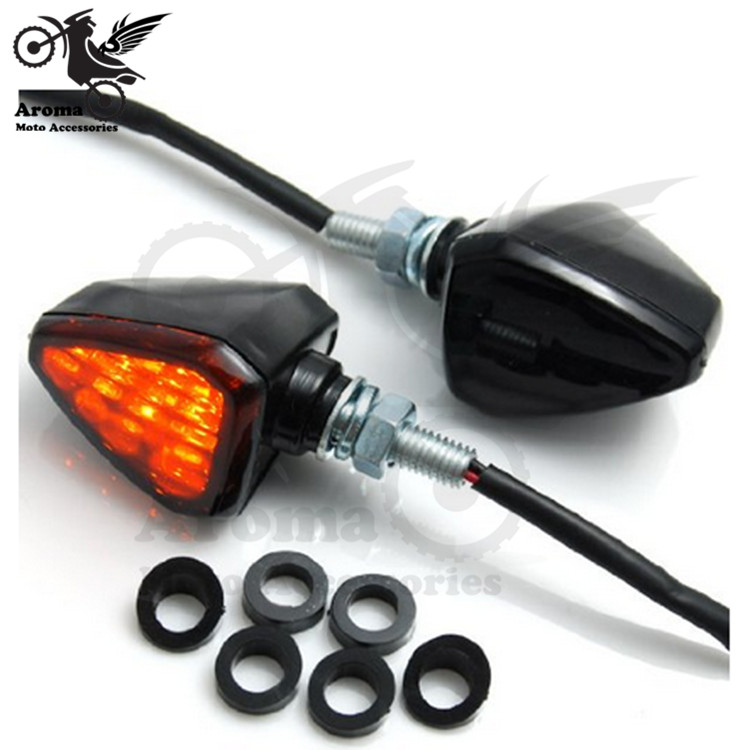 Black Smoke Lens Motocross ATV Off-road Moto Dirt Pit Bike Motorcycle Flashers Motorbike Brake Light Scooter Turn Signal Light