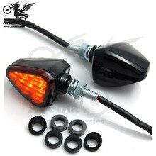 black smoke lens motocross ATV Off road moto dirt pit bike motorcycle flashers motorbike brake light