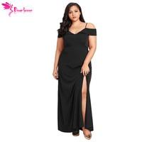 edde6e179 Dear Lover Maxi Dresses Big Women Clothes Summer Black Long Off The  Shoulder Plus Size Slit