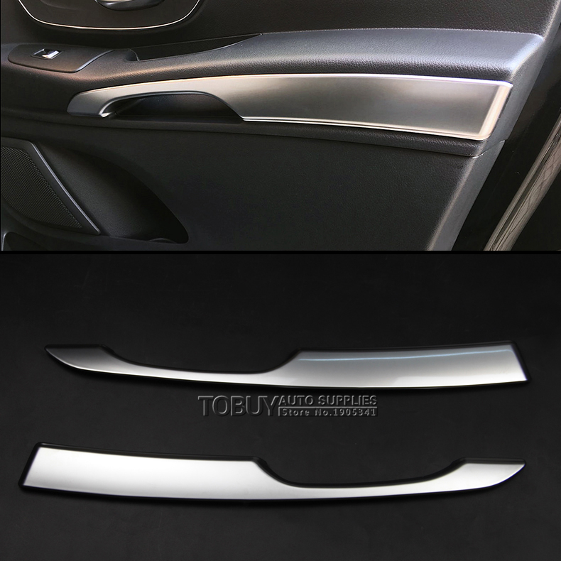 DEE 2pcs! ABS Car Accessories for Mercedes-Benz VITO 2016 Interior Door Arm Rest Panel Trim Strip Chrome Plate Armrest Stickers auto fuel filter 163 477 0201 163 477 0701 for mercedes benz