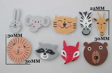WBNLAL Mixed 100pcs bulk sewing Animal buttons for children scrapbooking button wooden garment accessories
