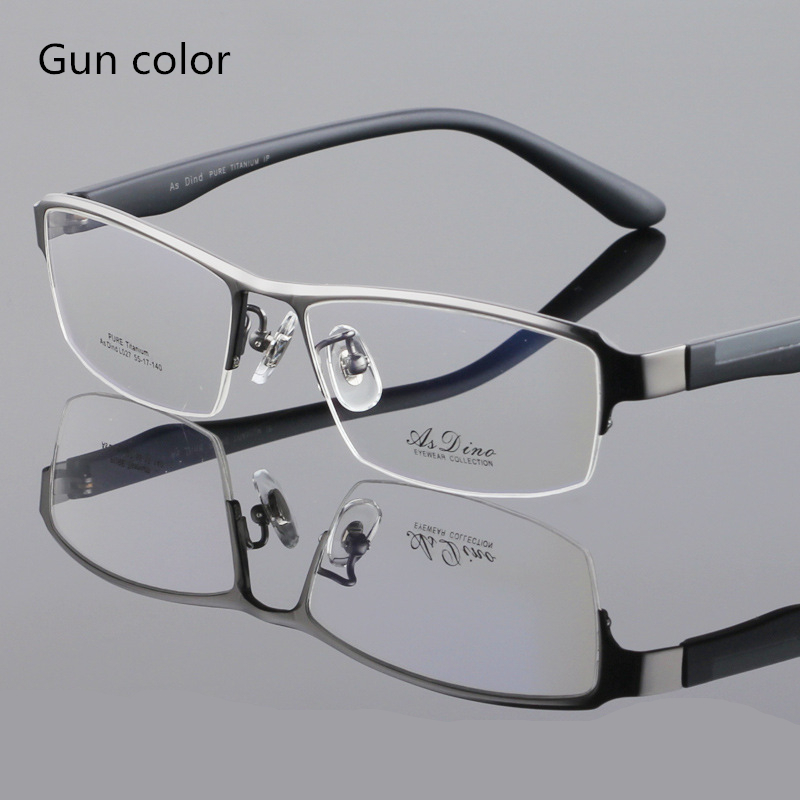 Glasses Top Frame Only : Top Glasses PURE Titanium material business man eyeglasses ...