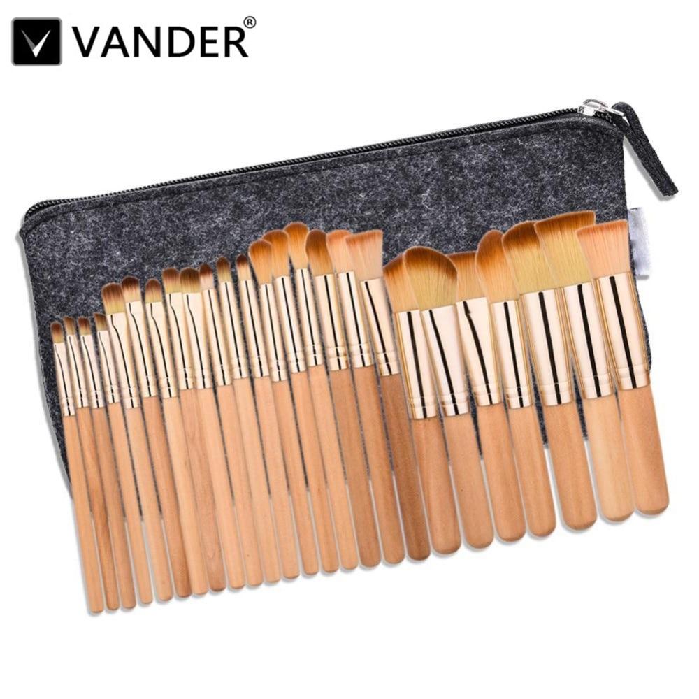 Vanderlife 25Pcs Professional Makeup Brushes Set Foundation Eye Shadows Lipsticks Powder Blending Brush Tools Pincel Maquiagem