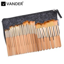 Vanderlife 25Pcs Professional Makeup Brushes Set Foundation Eye Shadows Lipsticks Powder Blending Brush Tools Pincel Maquiagem